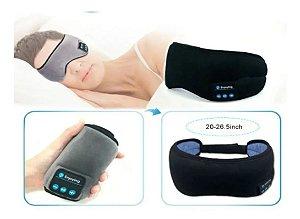 Máscara De Dormir Bluetooth Fones De Ouvido Cinza Algodão