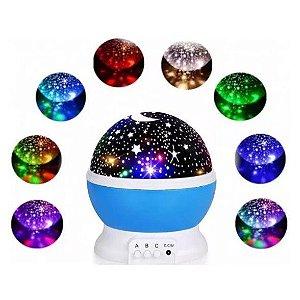 Luminaria De Estrelas Para Quarto Abajur Gira Projetor