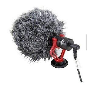 Microfone Boya BY-MM1 - Cardioide Preto Câmera Áudio Celular Pronto a Entrega