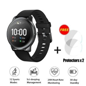 Versão Global Haylou Smart Watch Solar LS05 com 2Pcs Haylou Solar LS05 Screen Protectors