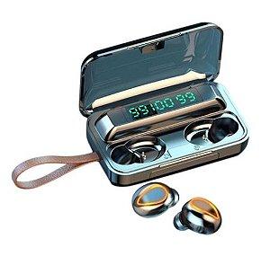 F9 fones de ouvido bluetooth sem fios com três ecrãs de fluido