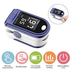 Oxímetro de dedo portátil l-ed Display Monitor de taxa de pulso de oxigênio no sangue para viagens em família