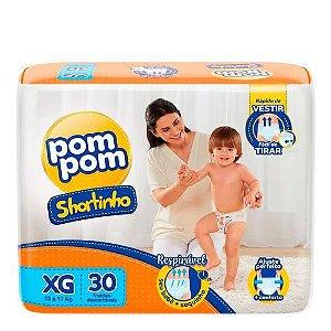 Fralda Pom Pom Shortinho XG 30 Unidades