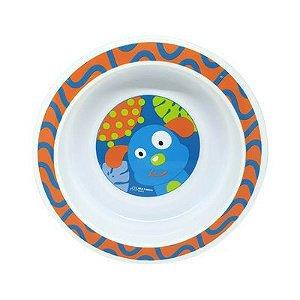 Prato Raso Com Ventosa Funny Meal Azul Multikids Baby