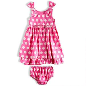 Vestido sem manga tricoline 100% algodão detalhe lacinho na alça bebê Tip Top