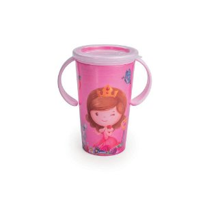 Copo para transição com Alça Baby Princess Magic 280ml - Plasútil