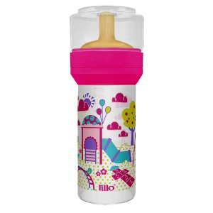 Mamadeira Lillo Divertida Bico Látex -Rosa - 260ml
