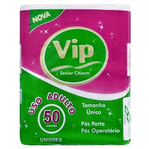 Absorvente Descartável Unissex VIP -  50 Unidades