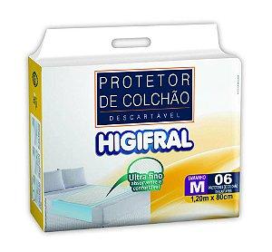 Protetor de Colchão Descartável Higifral - Tamanho M - 6 unidades