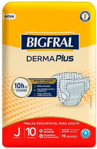 Fraldas Descartáveis Bigfral Plus Juvenil - 10 Unidades