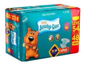 Fralda Baby Scooby Doo -Tamanho XG - 54 Unidades