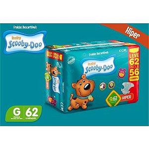 Fralda Baby Scooby Doo -Tamanho G - 62 Unidades