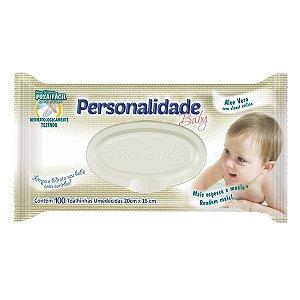 Lenços Umedecidos Personalidade Baby - 100 Unidades