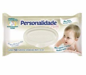 Lenços Umedecidos Personalidade Baby - 50 Unidades