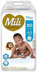 Fralda Mili Love & Care - Tamanho XG - 44 unidades