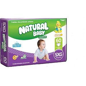 Fralda Natural Baby Premium - Tamanho SXG - 60 unidades
