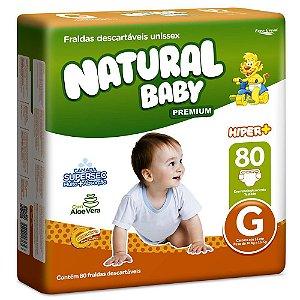 Fralda Natural Baby Premium - Tamanho G - 80 unidades