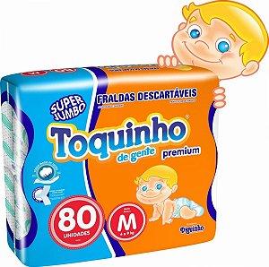 Fralda Toquinho Premium Tamanho M Com 80 unidades