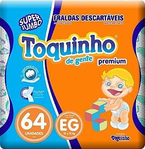 Fralda Toquinho Premium Tamanho EG Com 64 unidades