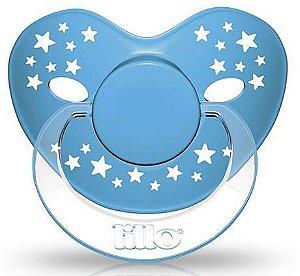 Chupeta Lillo Stars Baby Azul - Tamanho 2 - +6 meses