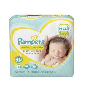 Fralda Pampers Premium Care Recém Nascido - Tamanho RN - 36 unidades