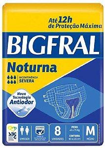 Fraldas Descartáveis Bigfral Noturna Incontinência Severa M - 8 Unidades