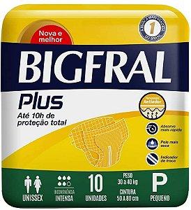 Fraldas Descartáveis Bigfral Plus Incontinência Intensa P - 9 Unidades
