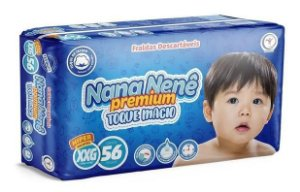 Fraldas Infantil Nana Nenê Premium Toque Macio XXG-56 unidades