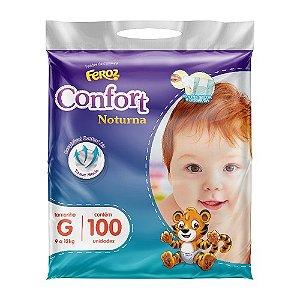 Fraldas Feroz Confort Noturna Tam G - 100 unidades