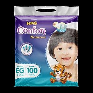 Fraldas Feroz Confort Noturna Tam EG - 100 unidades