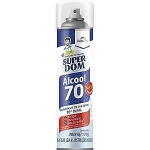 Álcool 70% Aerossol 300ml Super Dom 1 Unidade