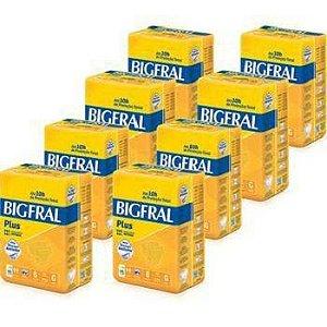 Fralda Geriatrica Bigfral Plus tamanho G- Fardo com 8 Pacotes