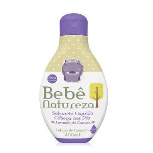 Sabonete Liquido Bebê Natureza Suave LAVANDA 400ML