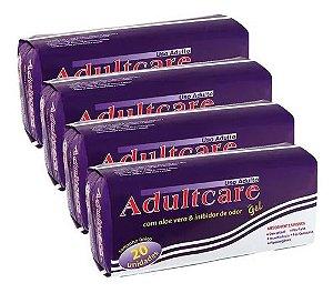 Absorvente Adultcare Geriátrico Unissex Com 80 Unidades kit 4 Pacotes