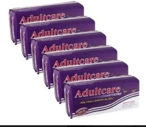 Absorvente Adultcare Geriátrico Unissex Com 120 Unidades kit 6 Pacotes