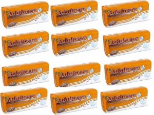 Absorvente Adulto Adultcare Premium Unissex - 240 unidades Kit 12 Pacotes