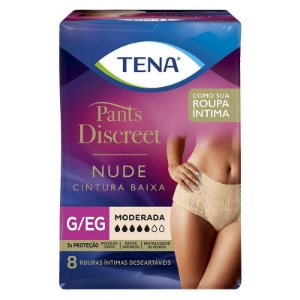 ROUPA ÍNTIMA TENA PANTS DISCREET NUDE G/XG 8 unidades