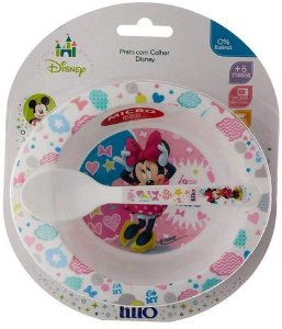 Prato fundo com colher - Minnie Mouse LILLO
