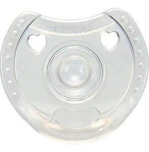 Chupeta Silicone Soft Comfort Calmante Transparente Kuka Tam 2 Maiores 6 Meses