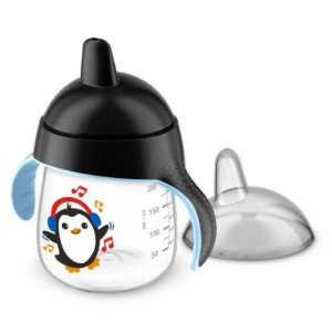 Copo Pinguim 260ml Philips Avent Preto 12M+