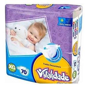 Kit Fralda Vitalidade Baby Mega XG 280 unid - 4 Pacotes