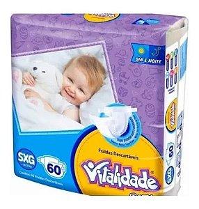 Kit Fralda Vitalidade Baby Mega SXG 300 unid - 5 Pacotes