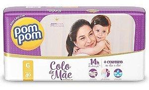 Fralda Pom Pom Colo de Mãe Tam G