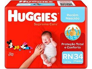 Fralda Huggies Supreme Care RN até 4kg