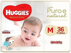 Fralda Huggies Natural Care - Tam. M 5,5 a 9,5Kg