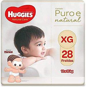 Fralda Huggies Natural Care Tamanho XG 28 Fraldas