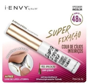 COLA DE CILIOS KISS NY - SUPER STRONG HOLD EYELASH ADHESIVE CLEAR IENVY