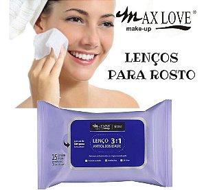 LENÇO DEMAQUILANTE ANTIOLEOSIDADE - MAX LOVE