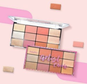 PALETA BLUSH E HIGHLIGTER ARTIST CHEEK - RUBY ROSE