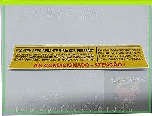 ADESIVO AR CONDICIONADO - LINHA GM - GÁS REFRIGERANTE R134a